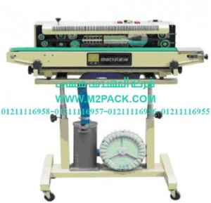 ماكينة لحام وتصنيع أكياس متعددة الطبقات رأسية مع طباعة تاريخ إنتاج بسير ناقل موديل m2pack 306