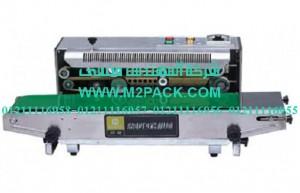 ماكينة لحام وتصنيع أكياس متعددة الطبقات مع طباعة تاريخ إنتاج بسير ناقل موديل m2pack com 301